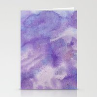 Purple Square Stationery Cards