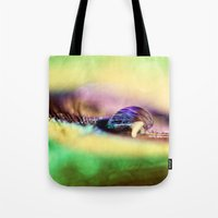 Vivid Abstract Feather Tote Bag