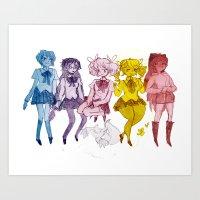 Puella Magi Art Print