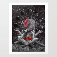 Moon phase celebration Art Print