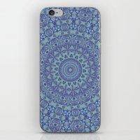 Shades of blue mandala iPhone & iPod Skin