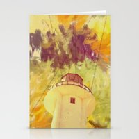 optic lines Stationery Cards