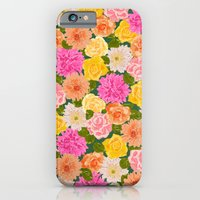 iPhone & iPod Case featuring SMELL THE ROSES: -roses and chrysanthemums- by bows & arrows