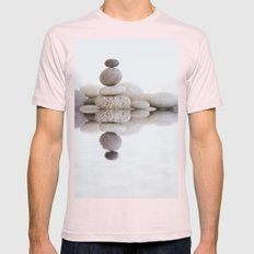 Stone Balance Mens Fitted Tee Light Pink SMALL