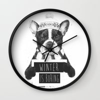 Winter Is Boring Wall Clock