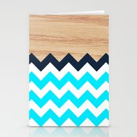 Chevron & Wood Stationery Cards