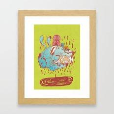 thump, thump! Framed Art Print