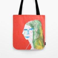 Helga in profile in full face Tote Bag