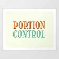 Portion Control Art Print