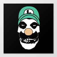 Misfit Luigi Canvas Print