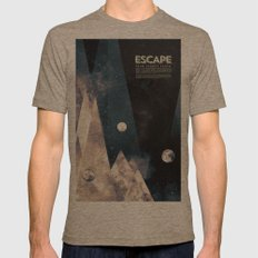 Escape, from planet earth Mens Fitted Tee Tri-Coffee SMALL