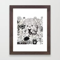 Skool Daze Ii Framed Art Print