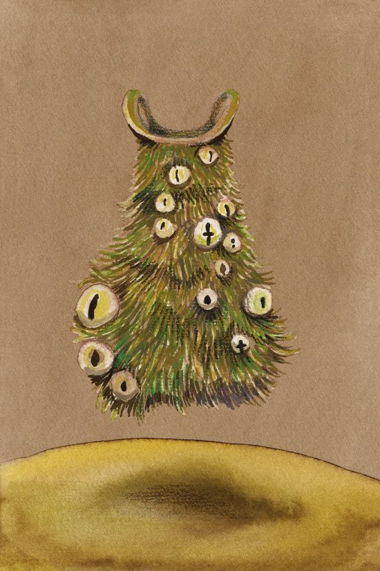 Christmas with Kermit dress Art Print