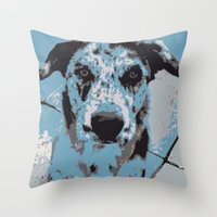 Catahoula Catawhat Throw Pillow