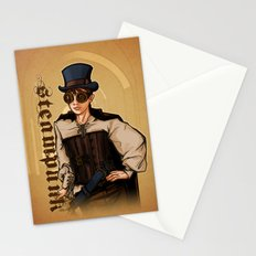 Steampunk Lady Stationery Cards