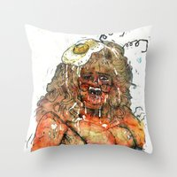 Edith Massey the Egg Lady Throw Pillow
