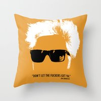 Jim Jarmusch Hair Throw Pillow