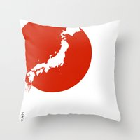 Save Japan! Throw Pillow