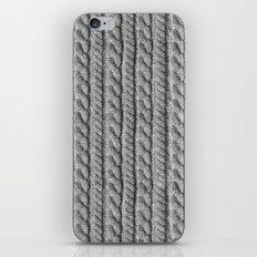 Grey Knit feeling iPhone & iPod Skin