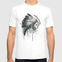 American Heritage (White) Mens Fitted Tee White SMALL