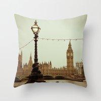 The Old Clock Throw Pillow
