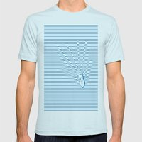 WAKE Mens Fitted Tee Light Blue SMALL