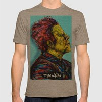 Tom Waits Mens Fitted Tee Tri-Coffee SMALL
