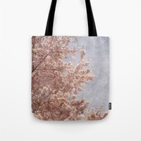 Beautiful Day - (pink cherry blossoms) Tote Bag