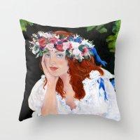New England Bride Throw Pillow