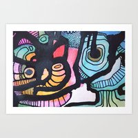 Staring into you Art Print