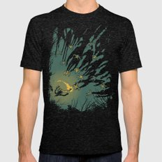 Zombie Shadows Mens Fitted Tee Tri-Black SMALL
