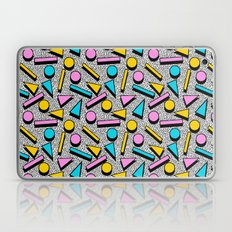 Dig It - memphis throwback retro neon cool rad pattern dorm college hipster neon squiggle abstract Laptop & iPad Skin