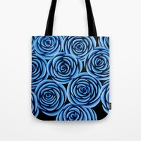 Flowers at Midnight Tote Bag