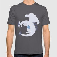 Lugia Mens Fitted Tee Asphalt SMALL