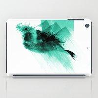 Splatter Bird Blue iPad Case