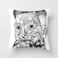beard lovely Throw Pillow