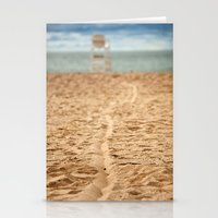 Sand Line Stationery Cards