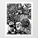 Circles & Life Original Abstract Illustration Art Print