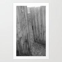 Behind Door 1 Art Print