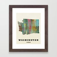 Washington State Map Mod… Framed Art Print