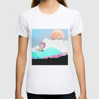 Magic Moon Womens Fitted Tee Ash Grey SMALL