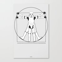 Vitruvian Stormtrooper Canvas Print