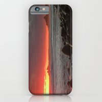 iPhone & iPod Case featuring Red at night sailor's delight by Bret Caiazzi