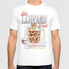 The Leopard Pint Mens Fitted Tee White SMALL