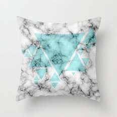 Marble Triangles Throw Pillow