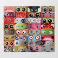 Eyes Eyes Eyes  Canvas Print