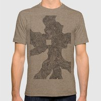 Pancake Mens Fitted Tee Tri-Coffee SMALL