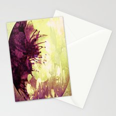 Circle of flowers Stationery Cards