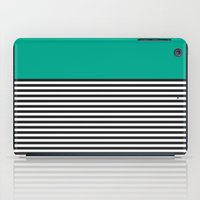STRIPE COLORBLOCK {EMERALD GREEN} iPad Case