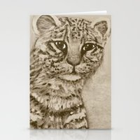 Ocelot Watching, By Ave … Stationery Cards